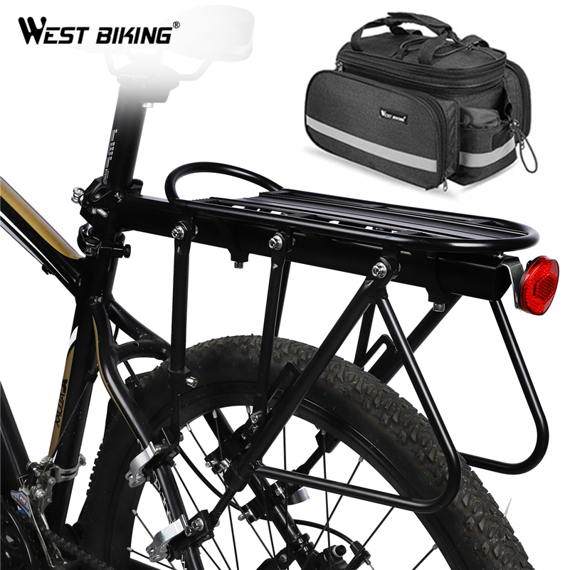 WEST BIKING Mountain Bike Luggage Carrier Quick Release Bicycle Cargo Rack Trunk Bag For 20 29