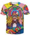 Músico T-Shirt 3d colorido un maravilloso Hippie hippie unisex camiseta del verano camiseta de la moda hombres de las mujeres tops camiseta de manga corta