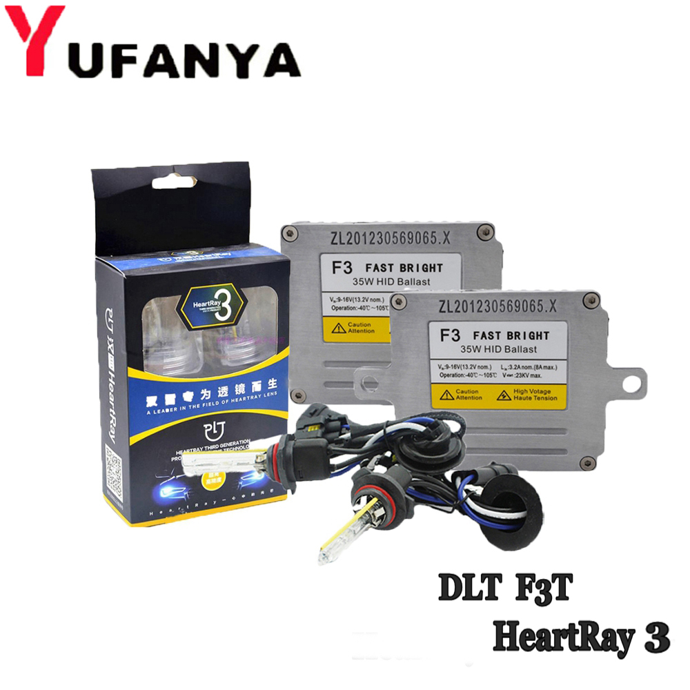 35W HID Xenon Kit Ballast For DLT F3T with HeartRay HID Xenon Bulb H1 H3 H7