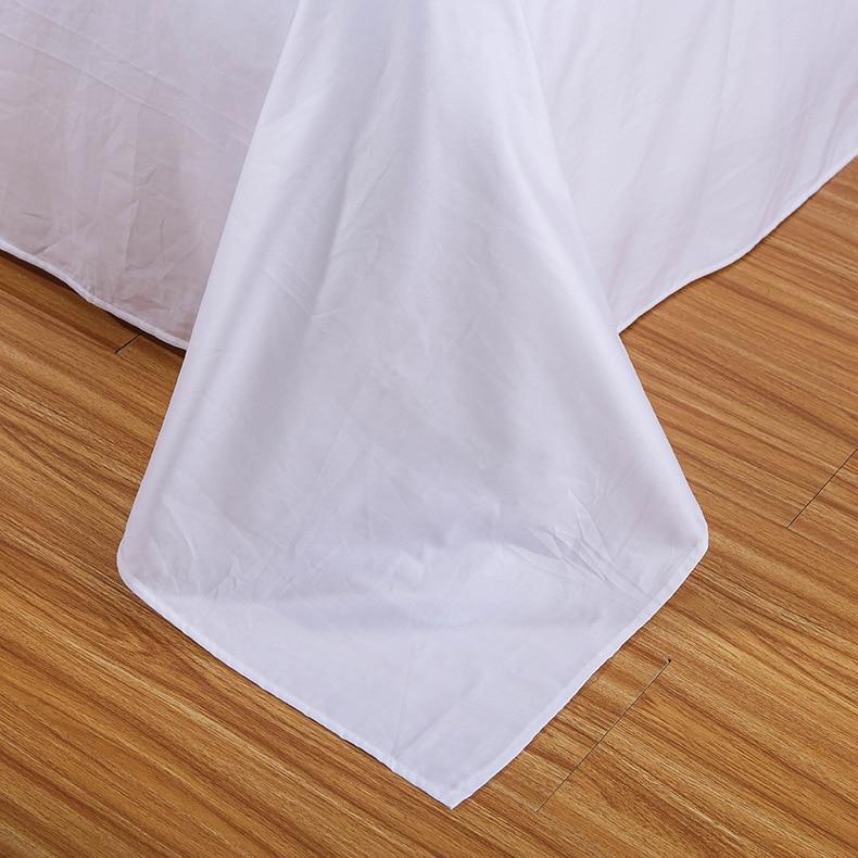 Copripiumino Protegge e Copre il vostro Consolatore/Duvet Inserisci, di lusso 100% Cotone Full Size di Colore Bianco 4 pezzo Copripiumino Set - 3