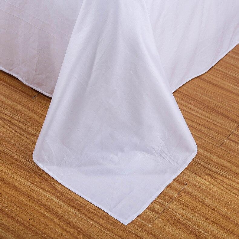La funda de edredón protege y cubre tu edredón/edredón con relleno, de lujo 100% algodón de tamaño completo Color blanco 4 piezas conjunto de funda de edredón - 3
