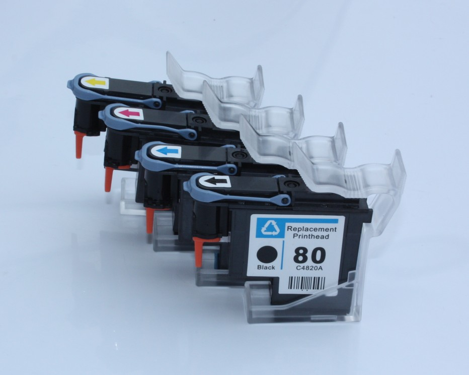 4PK  Refurbished For HP 80 Print Head C4820A C4821A C4822A C4823A Printer