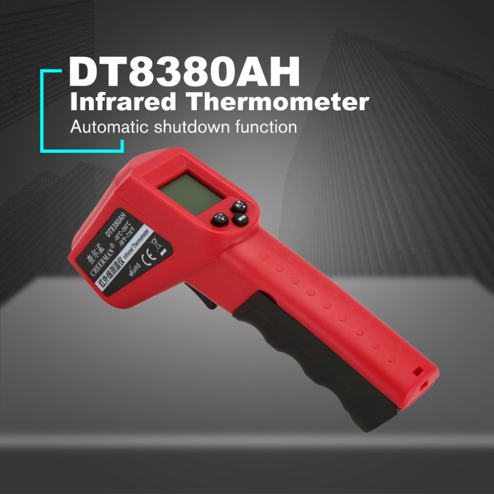 12:1 Distance-to-Sight Ratio Klutch Non-Contact Digital Infrared Diagnostics Thermometer