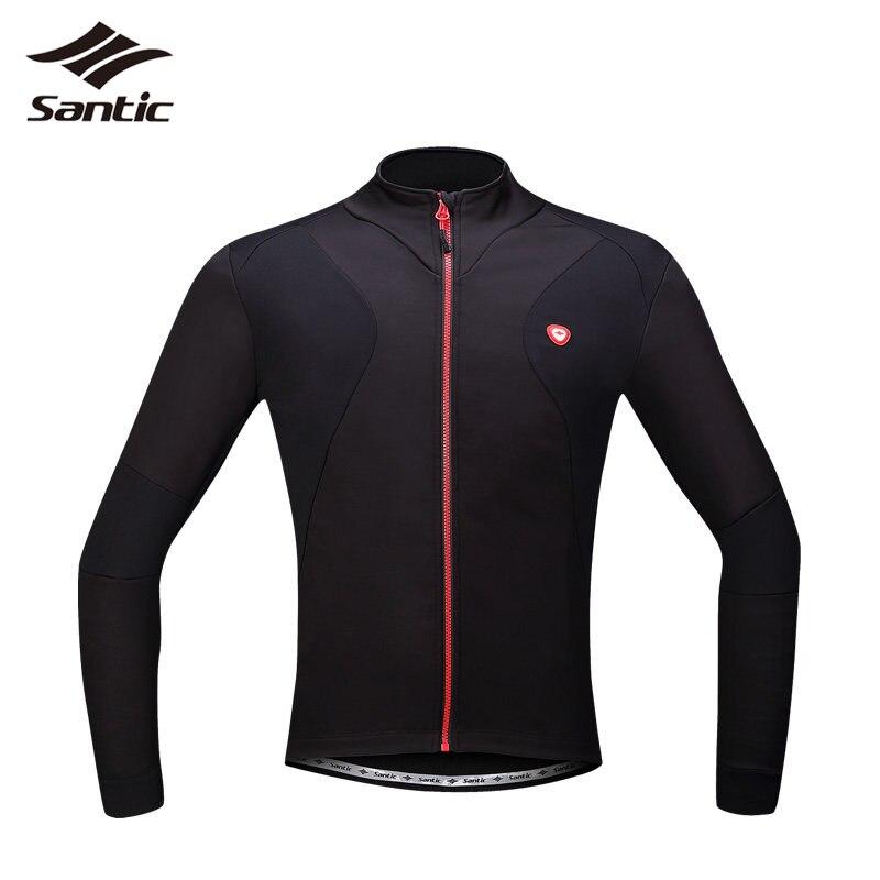 SANTIC Men Cycling Jerseys Long Winter Warm Cycling Clothing MTB Bike Bicycle Jerseys Motocross Pro Racing Riding Coat S-3XL стоимость