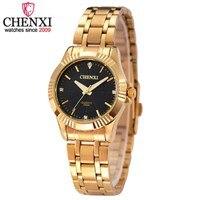 Top Fashion Brand For Feminine Luxury CHENXI Watches Women Golden Casual Quartz Wristwatch Waterproof Female Watches