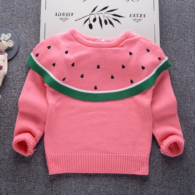 a2349caa3fdf Baby girls sweater 2018 Fall Fashion Design Watermelon Sweaters for ...