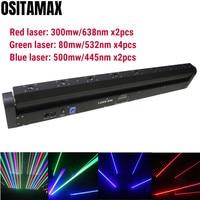 Dj luz laser rgb 8 olhos efeito mostra o sistema laser beam moving head bar disco laser rgb laser de cor única bar|Efeito de Iluminação de palco| |  -