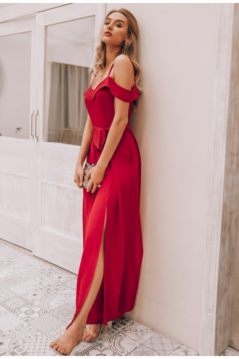 HTB1sYoMaJjvK1RjSspiq6AEqXXaK - Simplee Sexy off shoulder women jumpsuit romper Elegant high waist red jumpsuit long Summer wide leg lady playsuit overalls