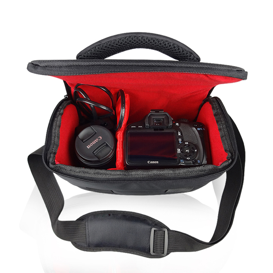 Sac Appareil Photo REFLEX NUMÉRIQUE pour Canon EOS 200D 100D 77D 600D 700D 750D 6D 60D 70D 1300D 1200D 1100D Sacs À Bandoulière Imperméables Couverture