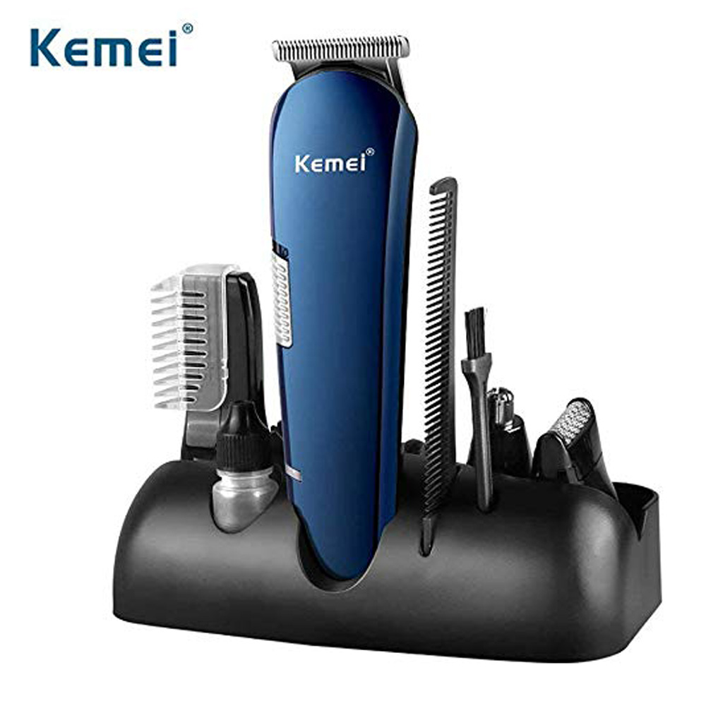 Kemei 550 5 In 1 Rechargeable Hair Trimmer Titanium Hair Clipper Electric Shaver Beard Trimmer USB Chargeable Shaving Clippers