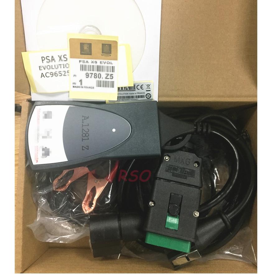 V7.83 PSA Diag box Lexia3 PP2000 Diagnostic Scanner with 921815C Full chip Interface for Citroen for Peuget diagnostic