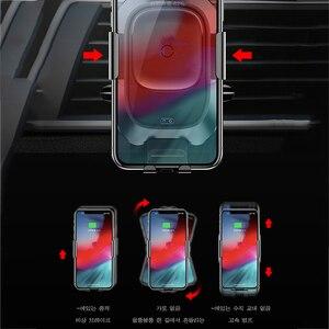Image 5 - Baseus 10 ワットチー車のワイヤレス充電器サムスンS10 iphone xインテリジェント赤外線センサー高速ワイヤレス充電自動車電話ホルダー