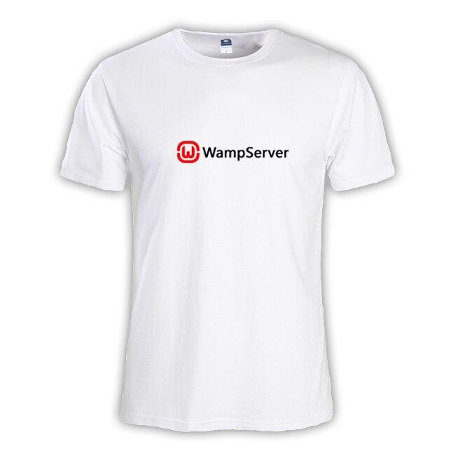 2018 Летняя мода WampServer PHP для мужские футболки для мальчиков мастер NERD freak хакер pc gamer программиста систем Мужчина tee большие размеры
