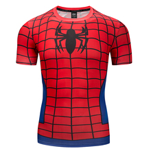 Black spider T-shirt shirt street style t-shirts vintage punk rock T 3d cartoon male style.