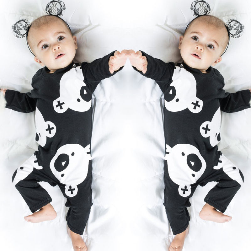 2017 Hot Cute Newborn Baby Boy Girl Romper Clothes Cartoon Bear Long Sleeve Cotton Rompers Playsuit One Pieces Outfit 0-24M newborn baby rompers baby clothing 100% cotton infant jumpsuit ropa bebe long sleeve girl boys rompers costumes baby romper