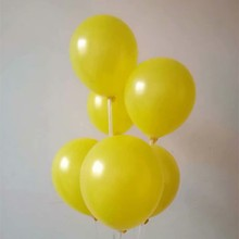 Happy New Year 2019 Ballon 100pcs/lot 10Inch 1.5g Pearl Yellow Latex Balloons happy birthd Party Decorations Anniversaire globos