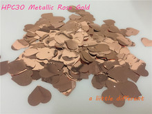 2.5cm 25g(2500pcs)/pack Rose Gold Love Heart Shape Confetti For DIY Wedding Baby Shower Party Table Scattering Decoration