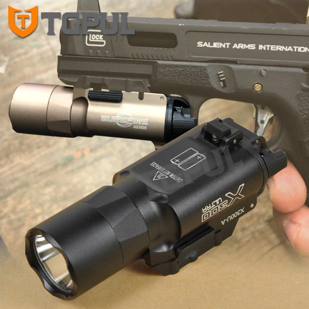 TGPUL Tactique SF X300 Ultra Pistolet Pistolet Lumière X300U 500 Lumens Haute Sortie Arme lampe de Poche Fit 20mm Picatinny Weaver rail