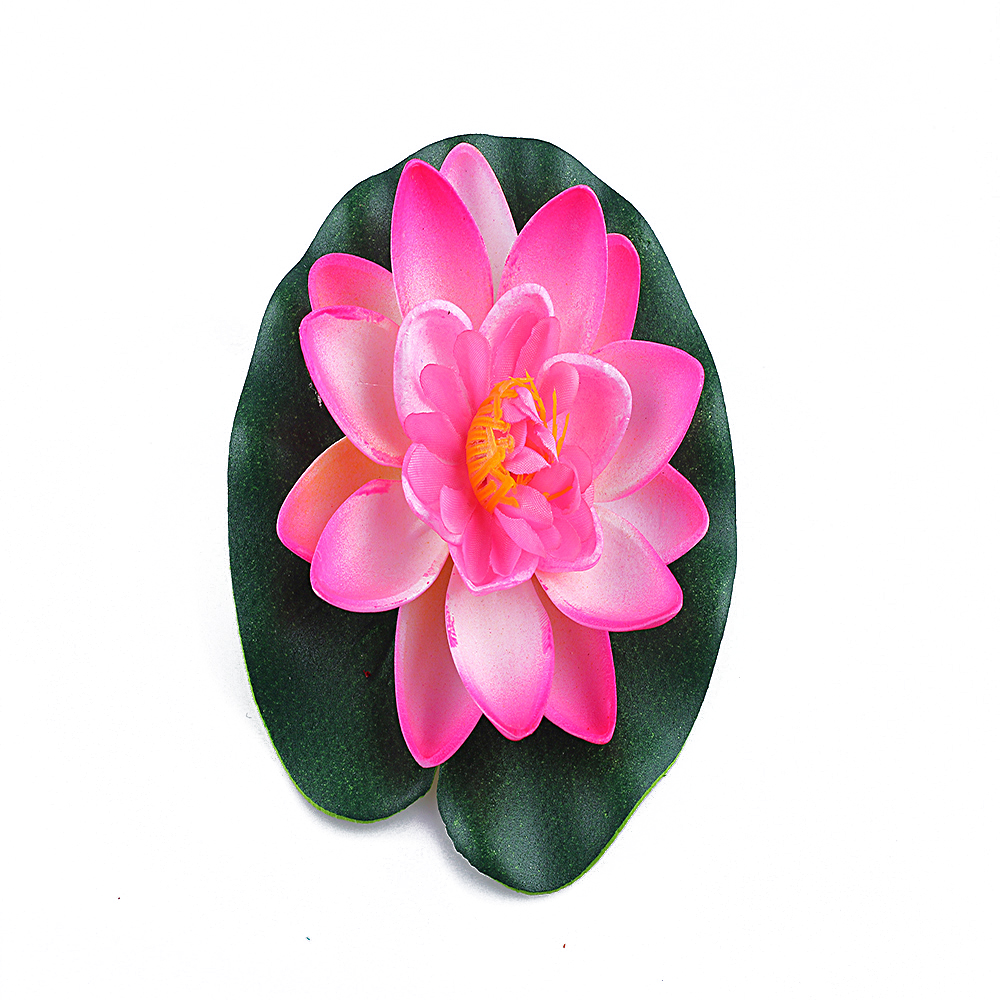 Floating lotus flower promotion shop for promotional floating 1pc 10cm real touch artificial lotus flower foam lotus flowers water lily floating pool plants wedding garden decoration dhlflorist Gallery