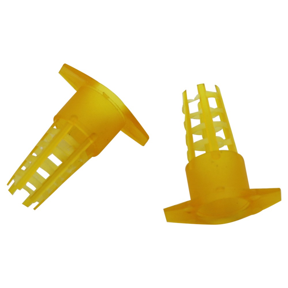 300Pcs Beekeeping Tools Cell Protector Cages Yellow Plastic Bee Queen Cage Protective Cover Beekeeping Equipment