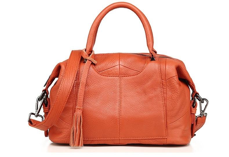 MJ Women Genuine Leather Handbag Female Real Cow Leather Tote Bag Ladies Large Capacity Shoulder Bag Crossbody Bags for Women (18)