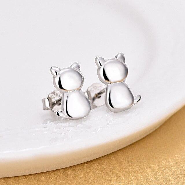 Элегантные 925 пробы серебряные крошечные серьги гвоздики с