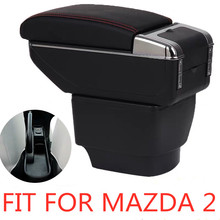 Armrest storage box car organizer seat gap case pocket content box with USB cup holder FIT FOR mazda 2 armrest box