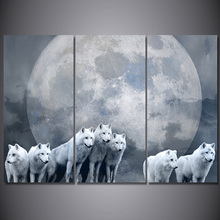 Dogs moon Poster  Wall Art