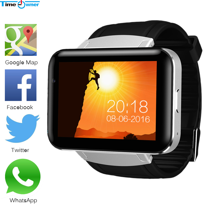 Time Owner Bluetooth Clock Smart Watch Android 4 4 OS 512MB RAM 4GB ROM Notification Support