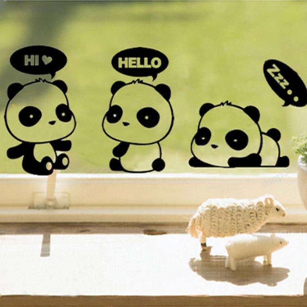 Cartoon Panda Cute Switch Sticker Room Window Wall Decorating DIY ...