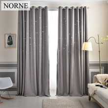 norne faux linen hollow out star window treatments curtain drapes blackout curtains for bedroom living studio