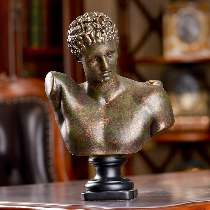 Retro Venus Bust Roman Mythology Head Portraits Statue Resin Craftwork Home Furnishing Articles L2413