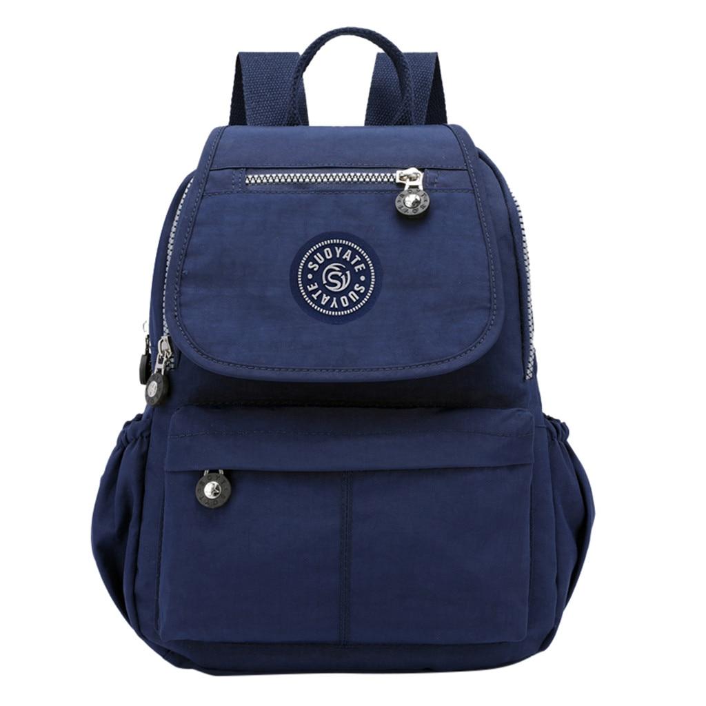 Backpack School Travel-Bags Shoulder Large-Capacity Waterproof Women's Fashion Ladies