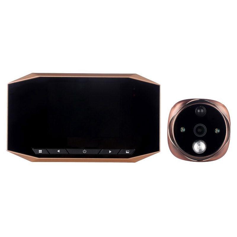 4.3-inch Intelligent HD video electronic cat door bell home surveillance anti-theft camera video door mirror smart cat's eye hd sony 700tvl 960h cat eye door hole