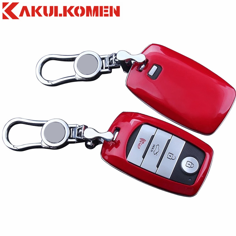 2017 Fashion Gift Car Key Smart Case Cover Bag Keychain For Kia K3 K3S K4 K5 KX3 Sportage R Sorento Carens Car key Accessories