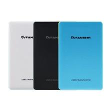Free shipping LVFAN F300 2.5'' USB3.0 HDD External Hard Drive 160G/320G/500G/640G/750G/1TB/2TB Capacity Optional Plug and Play