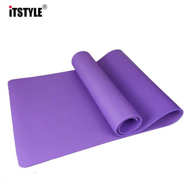 10MM NBR Yoga Mat Sports Anti Slip Blanket Gymnastics Fitness Flat Support Pad