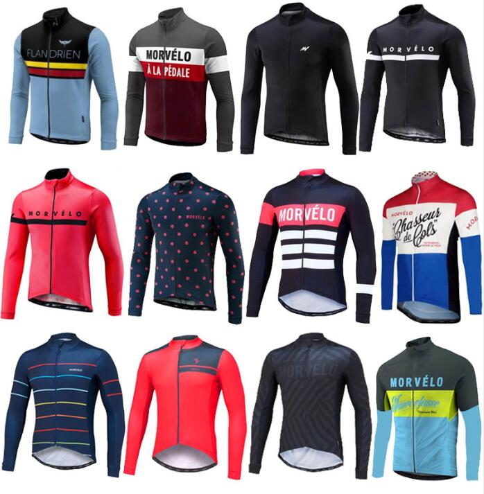 Cycling Jersey Clothing Bicycle-Clothes Bike Morvelo Long-Sleeve Team Pro-Spring/autumn title=