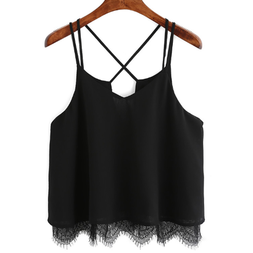 Sheila Store Sheila NEW ! crop top Tops dill top Women Lace Vest Top Sleeveless Casual Tank Blouse Summer Tops T-Shirt TOP quality mar21
