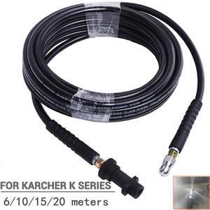 LaLeyenda 6M 10M 15M 20M Pressure Washer Extension Hose for Karcher K2-K7 Car Wash Cord