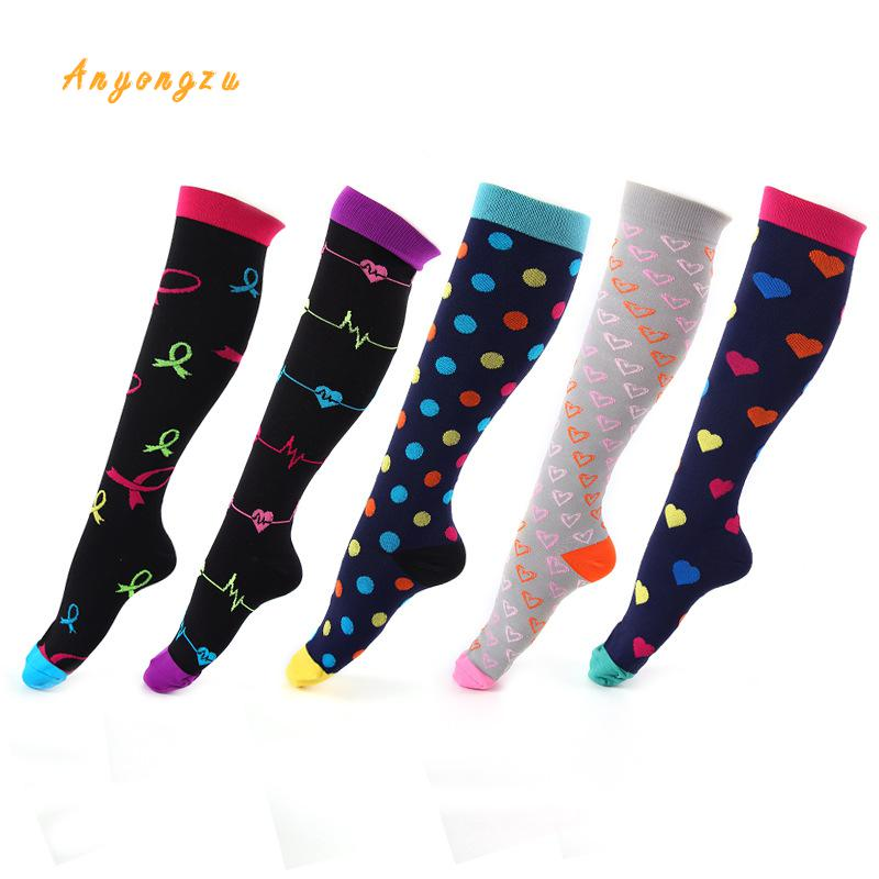 Image 3 - 2018 European And American Elastic Compress Stockings Nylon Nurse Professional Pressure Long Legs Women Stocking 5pair/lot-in Stockings from Underwear & Sleepwears on AliExpress