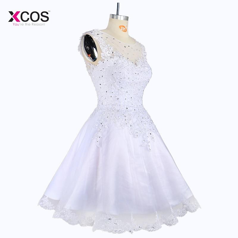 Elegant rochie de mireasa scurta fara maneca Rochie lunga Tank rochii - Rochii de mireasa - Fotografie 2