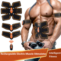 NEW Rechargeable Electric Muscle Stimulator EMS Body Slimming Abdominal Muscles Training Machine Body Toning Arm Waist