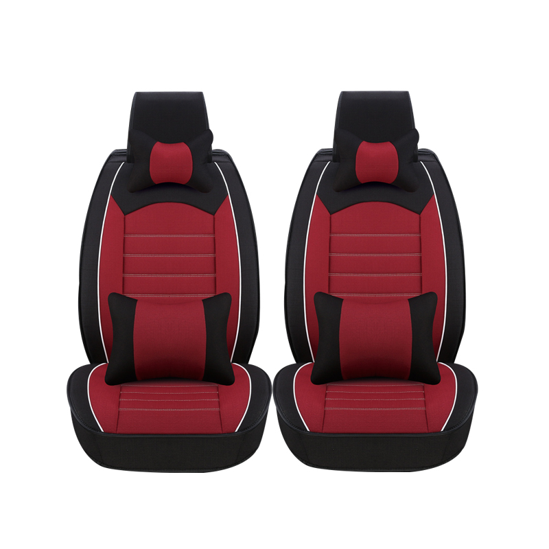 2 Pcs car seat covers For Chevrolet CRUZE SAIL LOVE AVEO EPICA CAPTIVA Cobalt Malibu lacetti car accessories styling 2 black and tan checkered seat covers for a 2010 to 2013 chevrolet equinox side airbag friendly