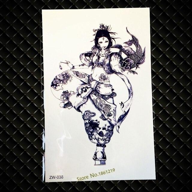1 Pc Nouvelle Conception De Tatouage Japonais Fille Gzw 038 Body Art