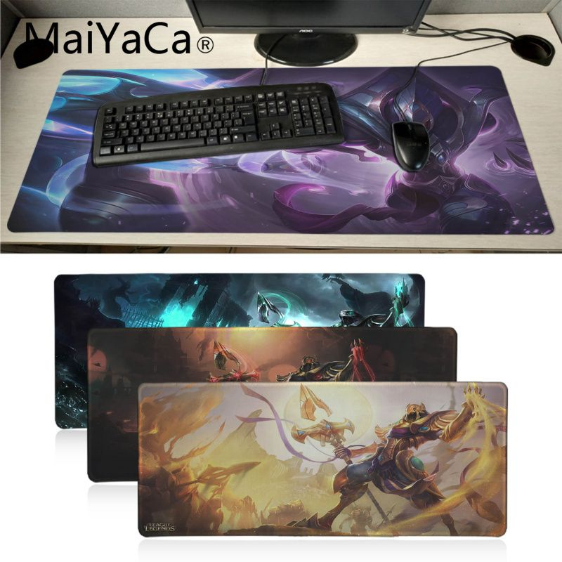 MaiYaCa Funny LOL Azir  High Speed New Mousepad Unique Desktop Pad Big Size Game Mousepad Gaming Mouse Pad Gamer Mouse Pad