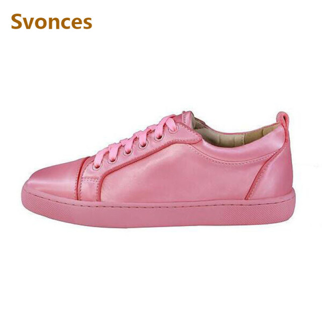 Fashion Casual Women Sneakers Shoes Luxury Brand Pink Black Red Flats  Platform Shoes Lace Up Round Toe Shoes Woman Unisex Style dbd9dc8cb463
