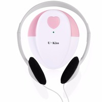U Kiss Pink Safe & Portable Baby Fetal Doppler Angel Sound Heart Rate Monitor Detector with Headphone Ideal for Home Use