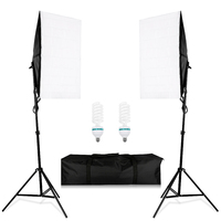 CY Photography Lighting Kit 2pcs 2m Light Stand 2pcs 50 70CM Wired Softbox E27 Lamp Holder