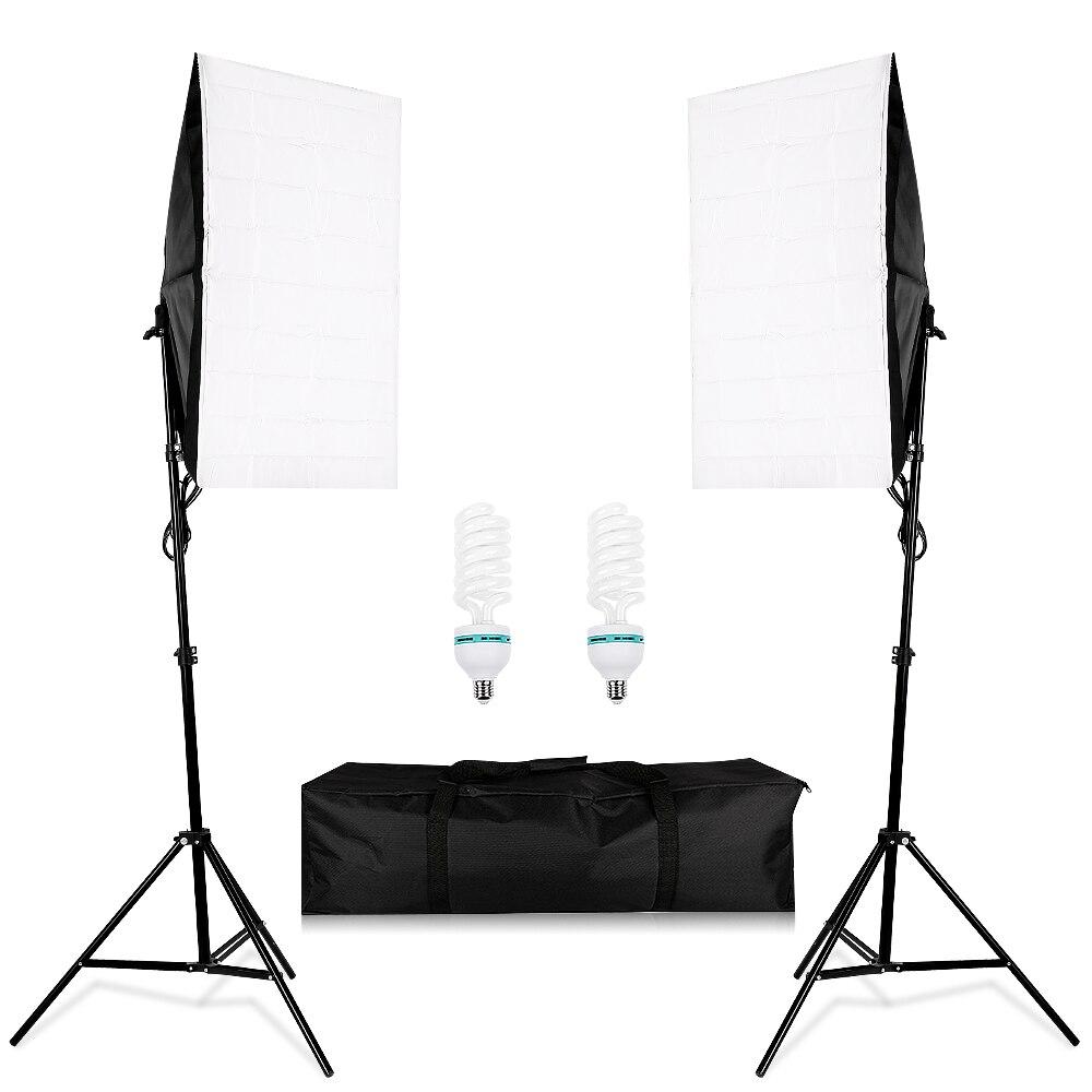 CY Kit de iluminat pentru fotografie 2pcs Stand de iluminat 2m + 2x50 - Camera și fotografia